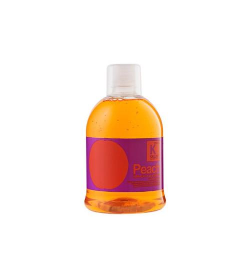 Шампунь-кондиционер питательный для сухих и ломких волос KJMN PEACH 1000 мл