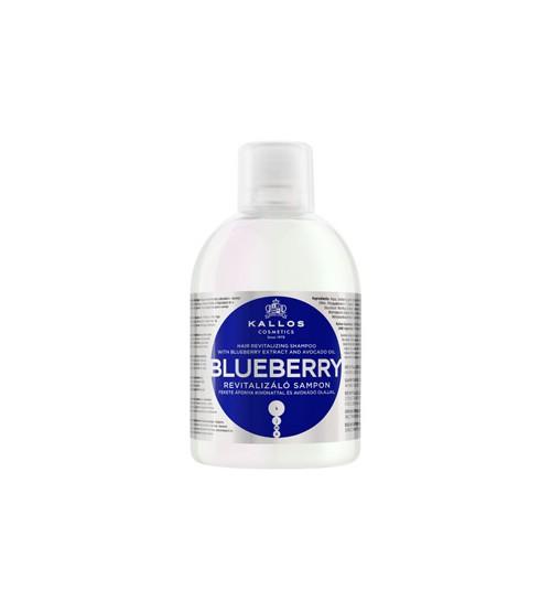 Оживляющий шампунь для поврежденных, сухих, химически обработанных волос с экстрактом черники и маслом авокадо KJMN BLUEBERRY 1000 мл